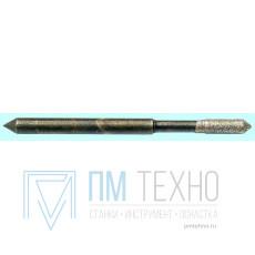 Головка алмазная цилиндрическая d 2,1х 3х7х50мм АС20  80/63 2 сл. с хвостовиком 0,18карат
