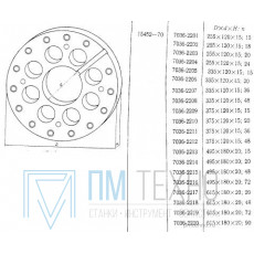 Диск Делительный d 350х120х 15 число делений 48 под паз 12мм (УЗСП-48) (восстановленный)
