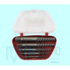 Набор экстракторов для выворачивания сорванных винтов из 5-ти штук (М2.5-М4) - (М10-М16) ШХ15