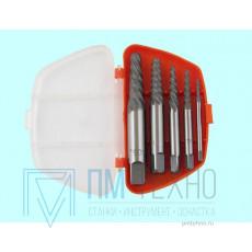 Набор экстракторов для выворачивания сорванных винтов из 5-ти штук (М3-М6) - (М14-М18) 9ХС