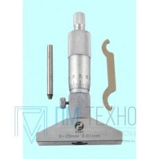 Глубиномер микрометрический ГМ 0- 25мм (0,01)
