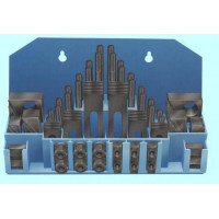 Набор клиновых ступенчатых прижимов из 58-ми предм., паз21,7мм М18х2,5 на пласт. подст. (YT-0211)
