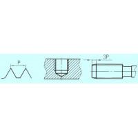 Метчик М10,0 (1,5) м/р.Р9 для глухих отверстий левый