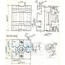 Опора Квадратная  60х 60х 80 с Т-образными пазами 12мм (ДСП-14А) (восст.)