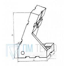 Опора угловая 45х30х65 25° правая, под паз 8мм (ДСПМ2-34) (восстановленная)