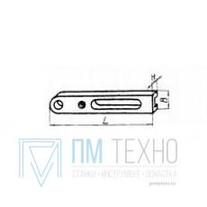 Планка 100х 20х 10 с установочным отверстием d 14мм, под паз 8мм передвижная (ДСПМ4-05)