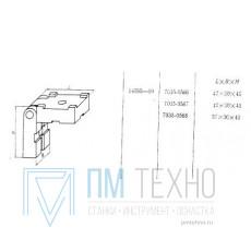 Планка  57х 30х 45 направляющая откидная, под паз 8мм (7035-0568) ГОСТ14595-69