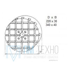 Плита Круглая d 340х 40 с Т-образными пазами 12мм (ДСП-5) (восстановленная)