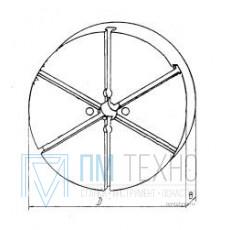 Плита Круглая d 340х 40 с радиальным расположением Т-образных пазов 12мм (ДСП-6) (восстановленная)