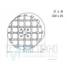 Плита Круглая d 240х 25 с Т-образными пазами 8мм (ДСПМ 1-03) (восстановленная)