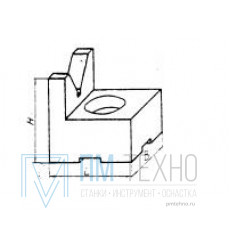 Призма опорная  30х 30х 25; 120° d 3-22мм под паз 8мм (ДСПМ2-37)