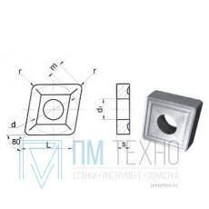 Пластина CNMM - 090308  ВК8(YG8) ромбическая dвн=4мм (05124) со стружколомом