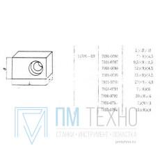 Шпонка прямоугольная   7х  8х  4,5 под паз 8мм привертная (7031-0786) ГОСТ 14501-69